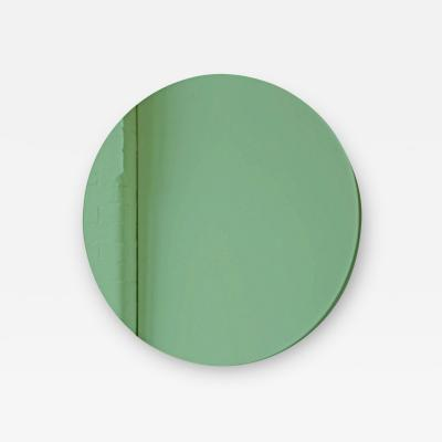 Alguacil Perkoff Ltd Orbis Green Tinted Round Frameless Contemporary Mirror