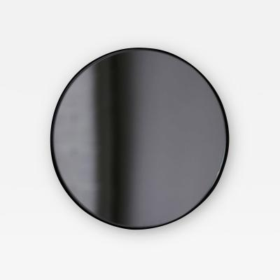 Alguacil Perkoff Ltd Orbis Round Black Tinted Contemporary Mirror with Black Frame