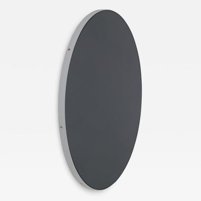 Alguacil Perkoff Ltd Orbis Round Black Tinted Contemporary Mirror with White Frame