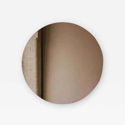 Alguacil Perkoff Ltd Orbis Round Bronze Tinted Contemporary Frameless Mirror