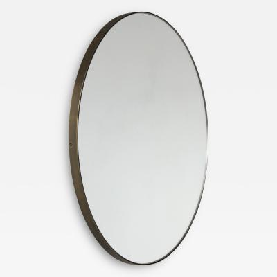 Alguacil Perkoff Ltd Orbis Round Elegant Mirror with a Bronze Patina Frame