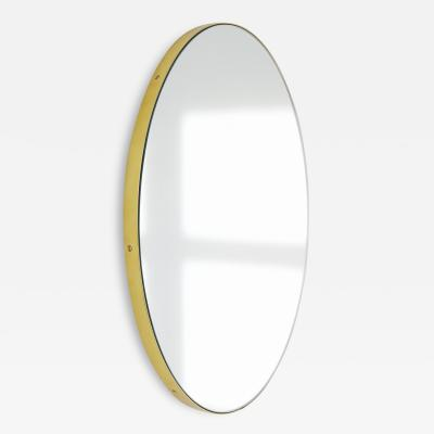 Alguacil Perkoff Ltd Orbis Round Handcrafted Mirror with Brass Frame Medium
