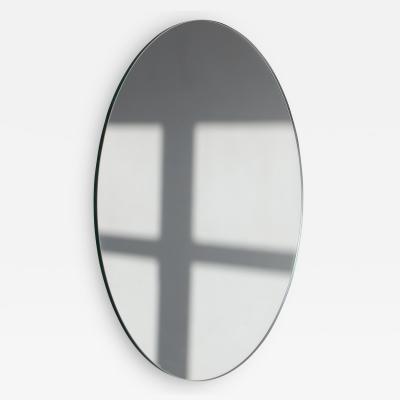 Alguacil Perkoff Ltd Orbis Round Minimalist Frameless Mirror