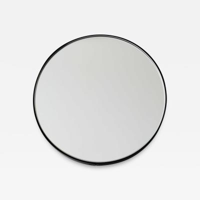 Alguacil Perkoff Ltd Orbis Round Minimalist Mirror with Black Frame
