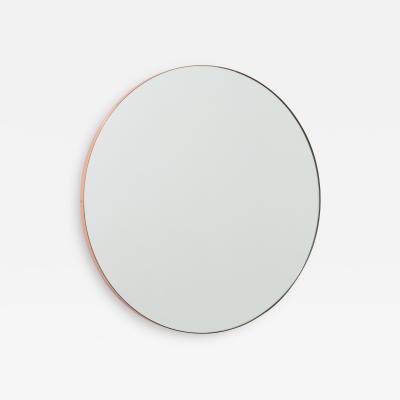 Alguacil Perkoff Ltd Orbis Round Minimalist Mirror with Copper Frame