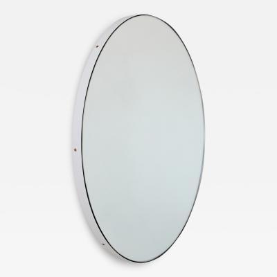 Alguacil Perkoff Ltd Orbis Round Mirror with Minimalist White Frame