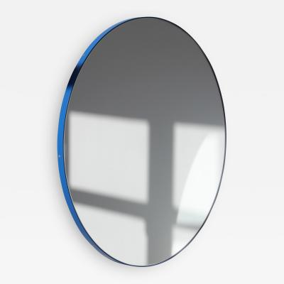 Alguacil Perkoff Ltd Orbis Round Mirror with Modern Blue Frame