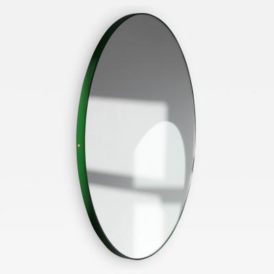 Alguacil Perkoff Ltd Orbis Round Mirror with Modern Green Frame