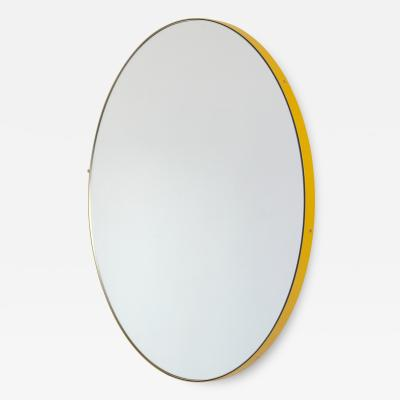 Alguacil Perkoff Ltd Orbis Round Mirror with Modern Yellow Frame