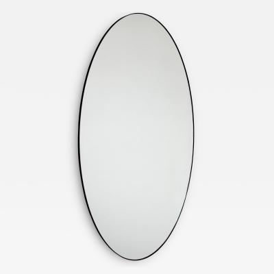 Alguacil Perkoff Ltd Ovalis Oval shaped Contemporary Large Mirror with a Black Frame