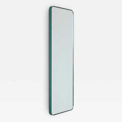 Alguacil Perkoff Ltd Quadris Rectangular Narrow Mirror with Mint Turquoise Frame