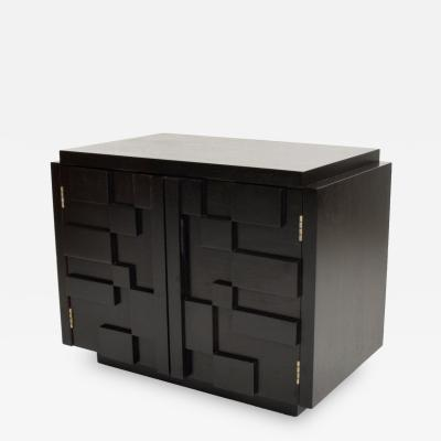 Altavista Lane Mid Century Modern Lane Brutalist Nightstand in Ebonized Walnut