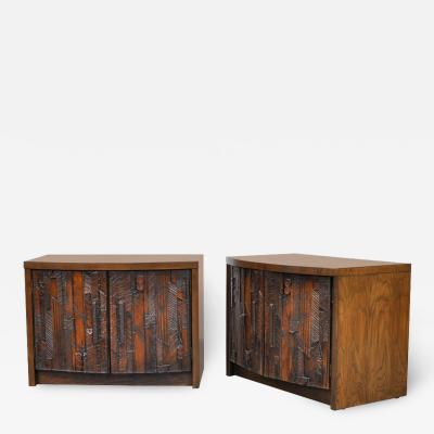 Altavista Lane Pair of Lane Brutalist Nightstands