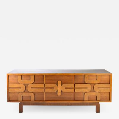 Altavista Lane Sculptural Aztec Mosaic Front 9 Drawer Dresser by Lane Altavista