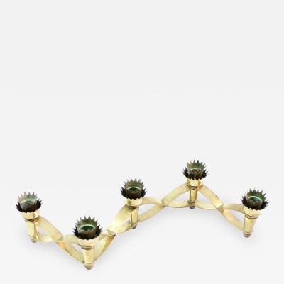 Alvaro Cianfanelli Brass Candleholder by Alvaro Cianfanelli