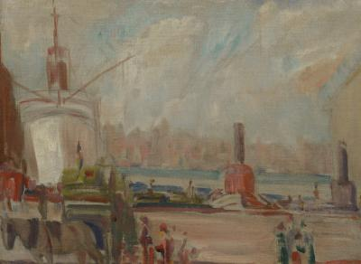 American Impressionist 20th century New York Harbor