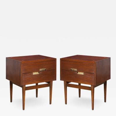 American of Martinsville Accord Nightstands by Merton Gershun for American of Martinsville Pair