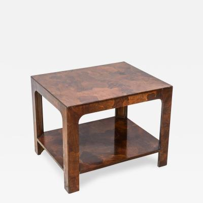 American of Martinsville American Modern Inlaid Mixed Wood Table American of Martinsville