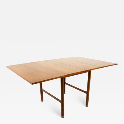 American of Martinsville American of Martinsville Mid Century Drop Leaf Dining Table Metal Accented Legs
