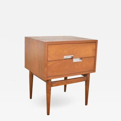 American of Martinsville American of martinsville accord walnut nightstand or end table