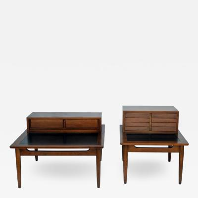 American of Martinsville Chic pair of Mid Century Side Tables by American of Martinsville