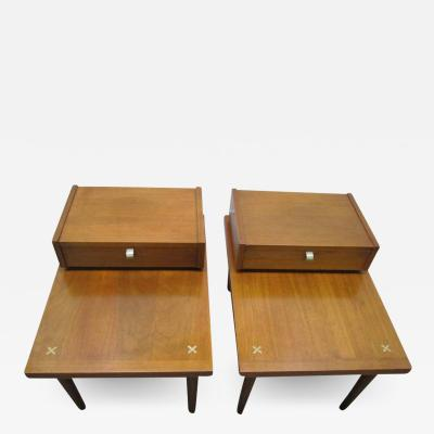 American of Martinsville Handsome Pair of American of Martinsville Mid Century Modern End Tables