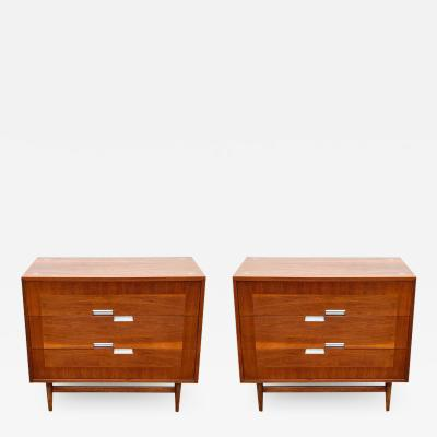 American of Martinsville Mid Century Modern Matching Pair of Chests Commodes or Large Night Stands