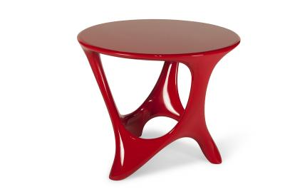Amorph Amorph Alamos Central Table in Red Lacquer