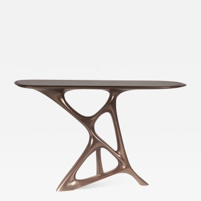 Amorph Amorph Anika Console Bronze Finish with Black Marble