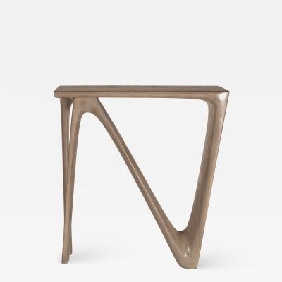 Amorph Amorph Astra Console Table in Solid Wood and Gray Oak Stain Finish