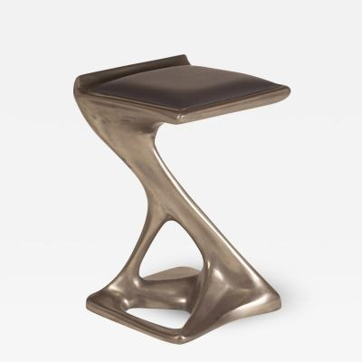 Amorph Amorph Attitude Stool with upholstery Nickel Finish