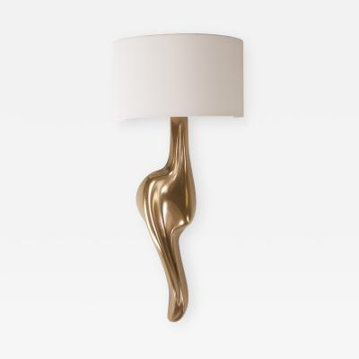 Amorph Amorph Oralee Sconces Gold Finish With Ivory Silk Shde