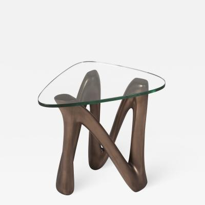 Amorph Amorph Ronia Side Table glass top Bronze finish
