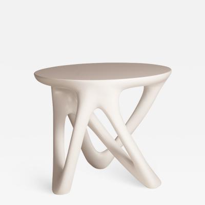 Amorph Amorphs Ya Side Table White Lacquered Finish