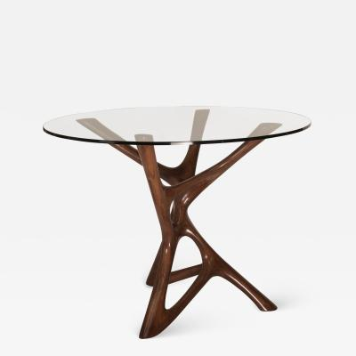 Amorph Ava Dining Table Graphite Walnut Finish with Glass