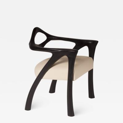 Amorph Darcey Dining Chair Ebony Stained with Off White Leather