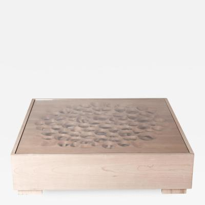 Amorph Rectangular Modern Coffee Table Solid Wood