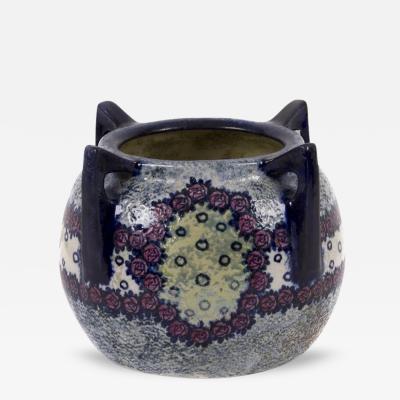 Amphora Austrian Four Handled Earthenware Vase by Amphora circa 1905 1910