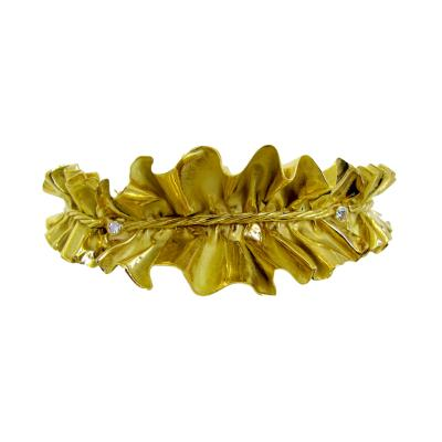 Annamaria Cammilli 1980 Anna Maria Cammilli Gold Ruff Choker