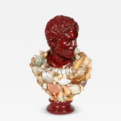 Anthony Redmile Faux Porphyry Seashell Bust of Caracalla after Anthony Redmile