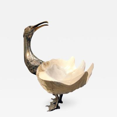 Anthony Redmile Goeland mounted object in sea shell and silvered bronze circa 1970