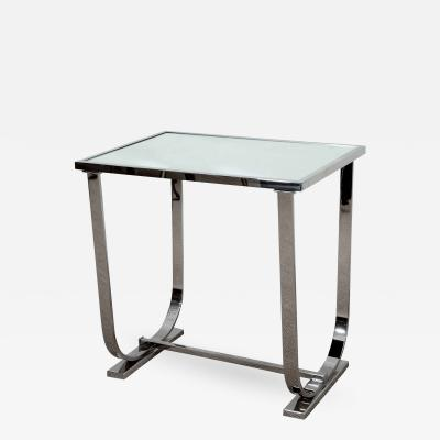 Appel Modern ART DECO STYLE CHROME AND MIRROR TABLE