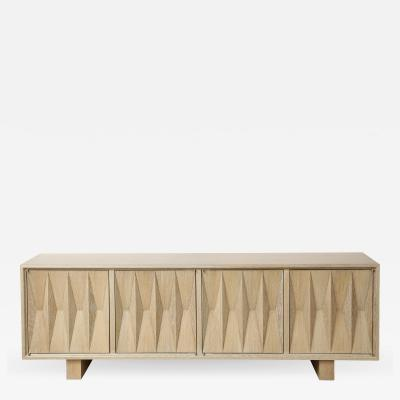 Appel Modern Sculpted front sideboard in light cerused oak by Appel Modern
