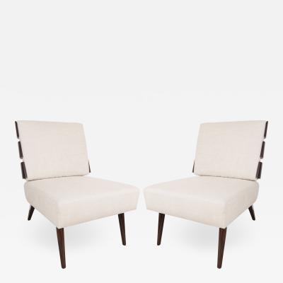 Appel Modern Slat back lounge chairs in the manner of Gibbings by Appel Modern