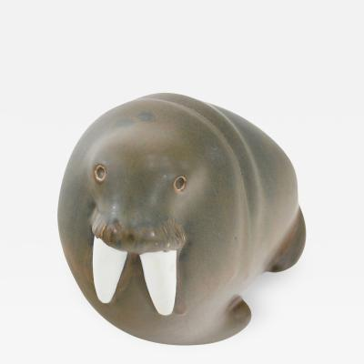 Arabia Porcelain Walrus Figure by Arabia