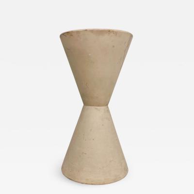 Architectural Pottery LaGardo Tackett Architectural Pottery Double Cone Planter in Bisque 1960s Calif