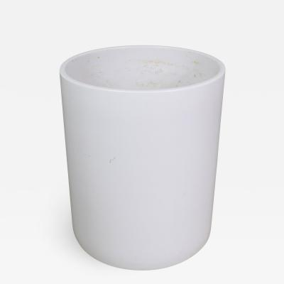 Architectural Pottery Mid century modern architectural pottery monumental white cylindrical pot