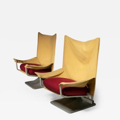 Archizoom Associati Pair of Aeo Lounge Chairs by Archizoom for Cassina
