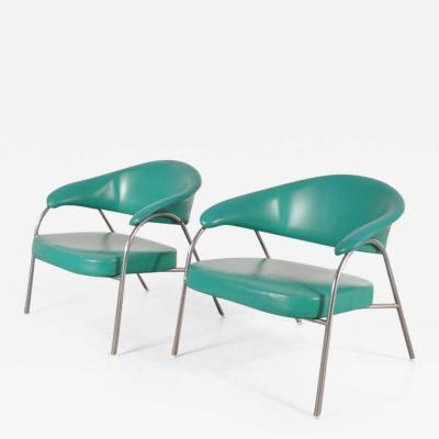 Arflex 1960s Pair of Rare Easy Chairs Produced by Arflex Italy
