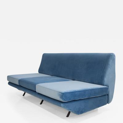 Arflex Marco Zanuso Sleep O Matic Blue Velvet Sofa